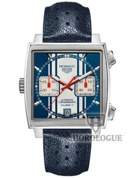 Steve McQueen Blue and white stripes Tag Heuer watch