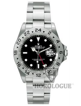 Rolex Explorer model 16570 with black dial and GMT hand