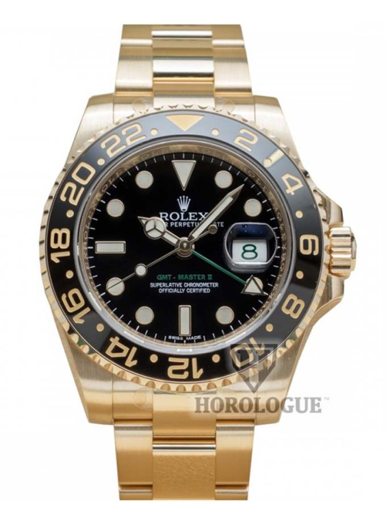 all gold rolex gmt with black dial