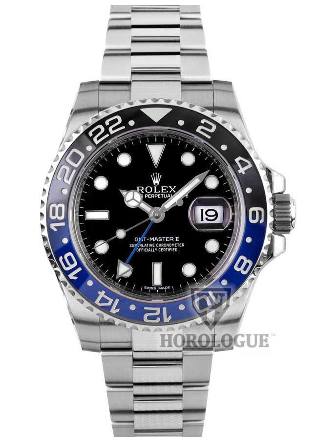 Rolex GMT with Black And Blue Bezel