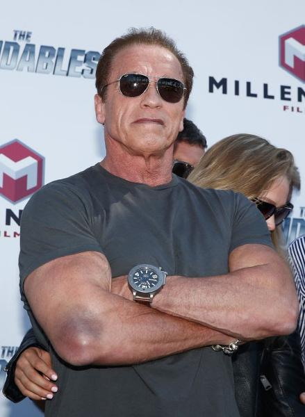 Arnold schwarzenegger wearing u boat watch