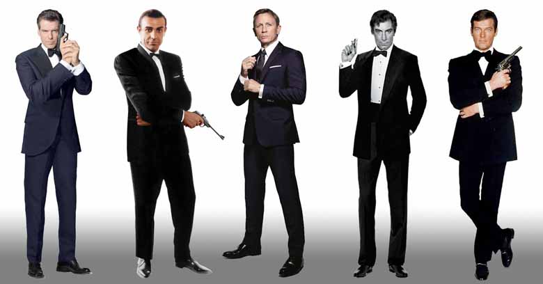 5 James Bond Actors