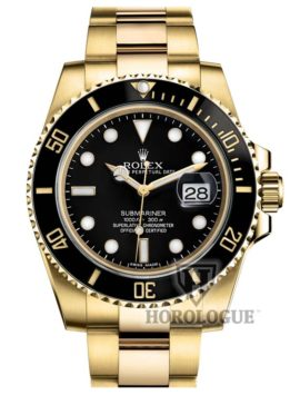 Gold Rolex model 116618 LN with black dial
