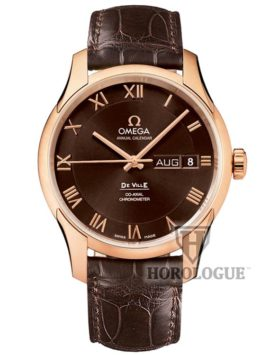 Omega De Ville Co-Axial Annual Calendar brown Watch
