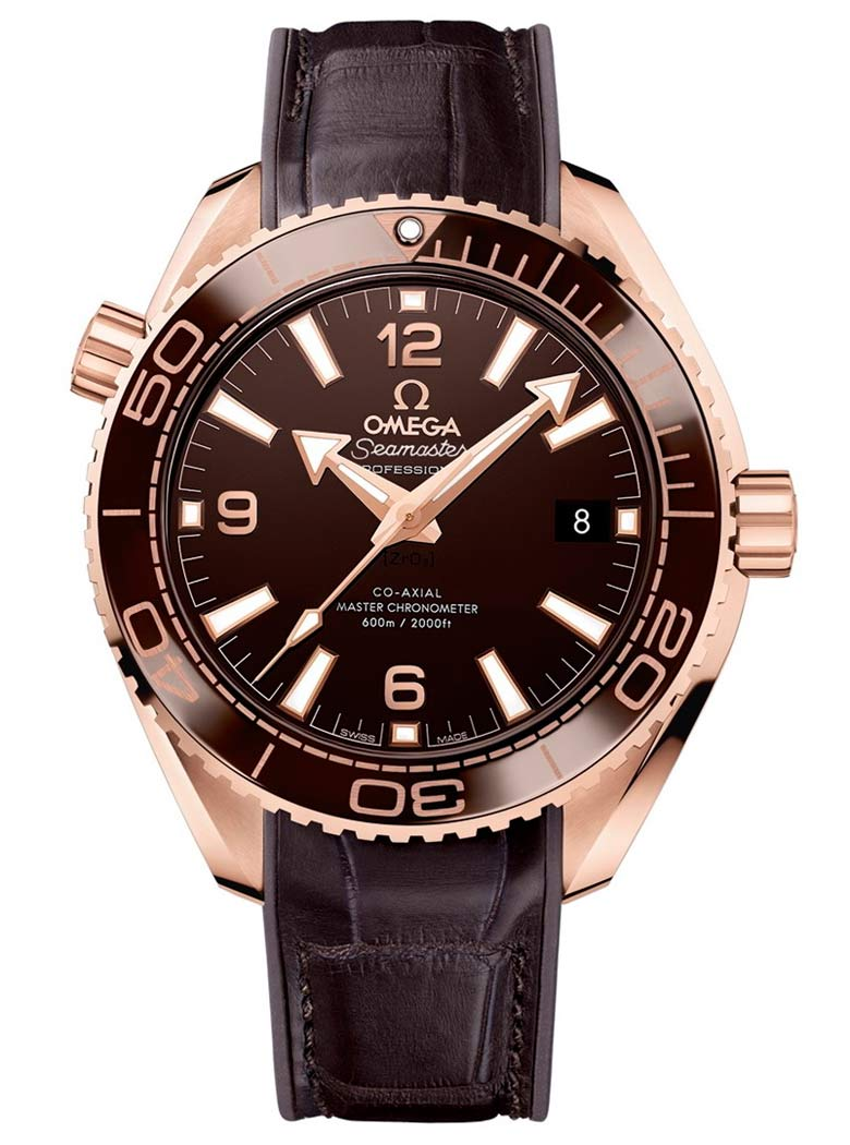 Omega Seamaster Planet Ocean 600m Master Chronometer 39.5mm Sedna Gold