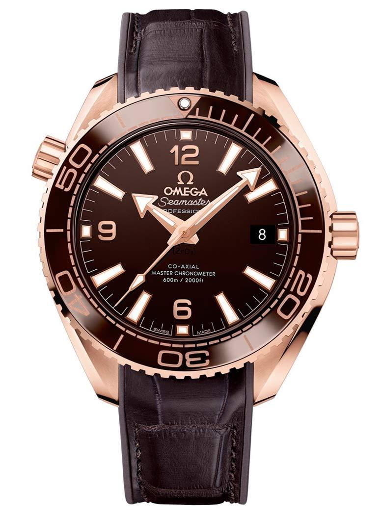Omega Seamaster Planet Ocean 600m Master Chronometer 39.5mm Sedna Gold