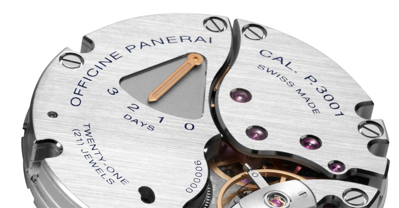 closeup image of panerai movement