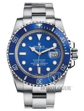 Blue Rolex Submariner front picture