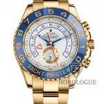 Gold Yacht Master II with blue bezel