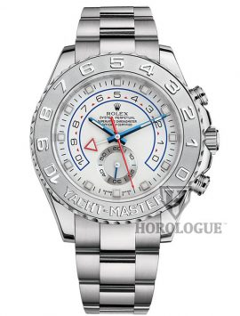 white gold Rolex Yacht-Master watch