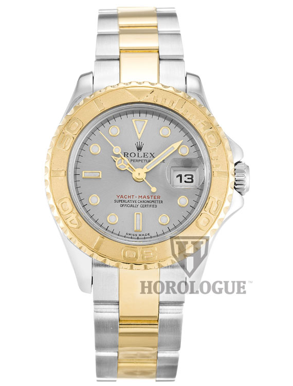 Grey Dial and yellow bezel Rolex Yacht-Master for ladies