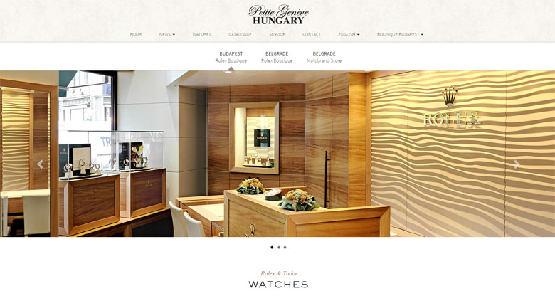 Petite Geneve Hungary Homepage print screen