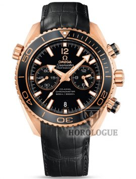 Omega Seamaster Planet Ocean with red gold bezel and black dial