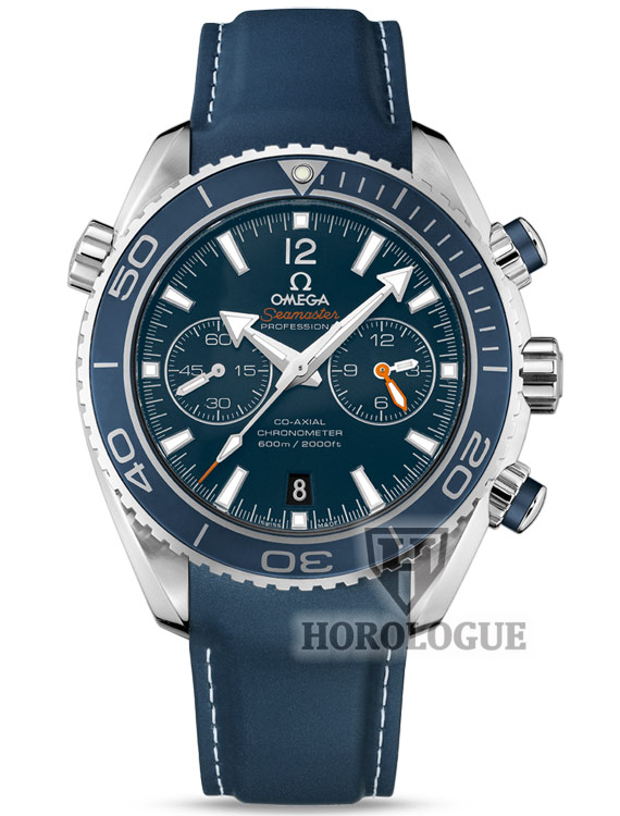 Omega Seamaster Planet Ocean Titanium case, blue dial and blue rubber band