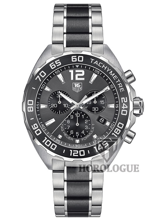 Formula 1 TAG with anthracite dial and ceramic bezel