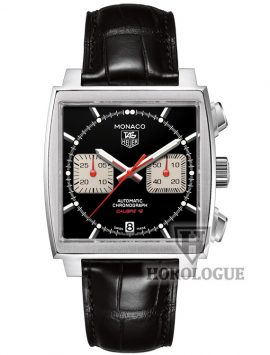 Leather band Black Tag Heuer Monaco watch