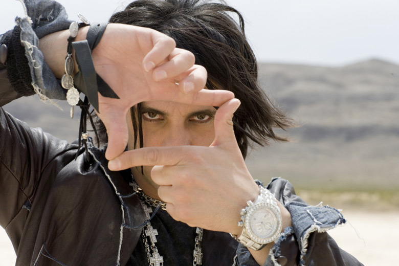 Magician Criss Angel wearing Breitling Diamond Super Avenger