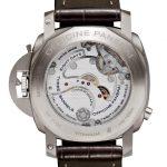 transparent back case of Monopulsante GMT wrist watch