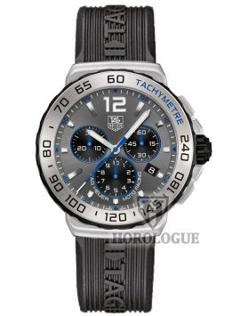 Blue hands Tag Hauer Formula 1 with grey dial
