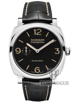 Black Dial, Stainless Steel case of Panerai Radiomir Watch