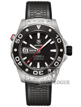 Black dial and rubber band Tag heuer Aquaracer Defender Watch