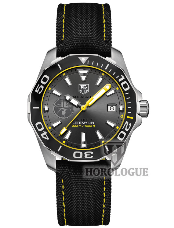 Grey dial with yellow hands Tag Heuer Aquaracer Calibre 5 Model WAY211F.FC6362