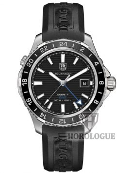 Tag Heuer GMT Aquaracer with blue seconds hand