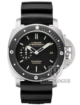 Black Panerai Luminor Submersible 1950 with ceramic bezel
