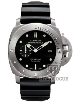 Black dial, Titanium case of Panerai Luminor Submersible 1950 Model PAM00305