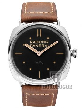 Radiomir SLC 3 Days Mechanical Black Dial Watch with steel bezel