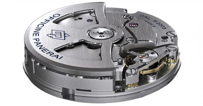 side view of Automatic mechanical movement P.2003 calibre