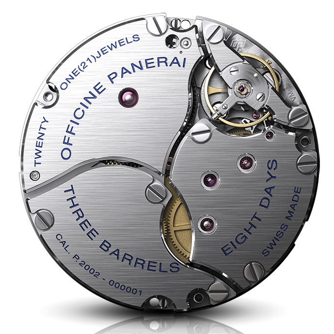 Panerai movement with power reserve 8 days