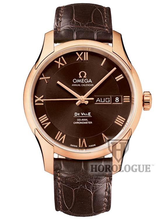 Omega De Ville Co-Axial Annual Calendar brown Watch