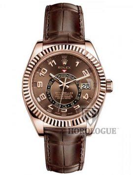 chocolate dial rolex sky-dweller