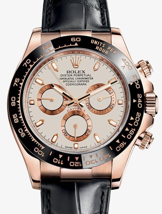 Ivory Daytona dial with everose hour markings