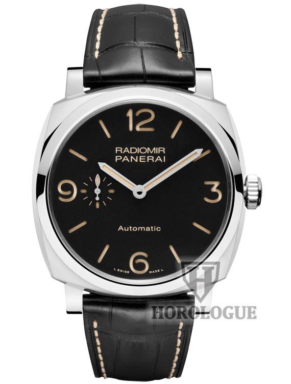 Black Dial, Stainless Steel case of Panerai Radiomir Watch