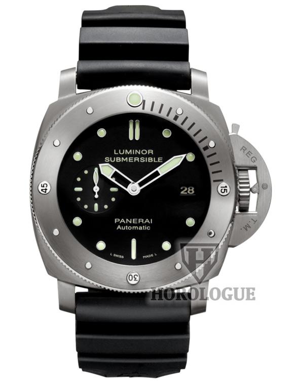 Black dial, Titanium case of Panerai Luminor Submersible 1950 Model PAM00305