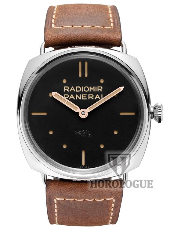 Radiomir SLC 3 Days Mechanical Black Dial Watch with steel bezel